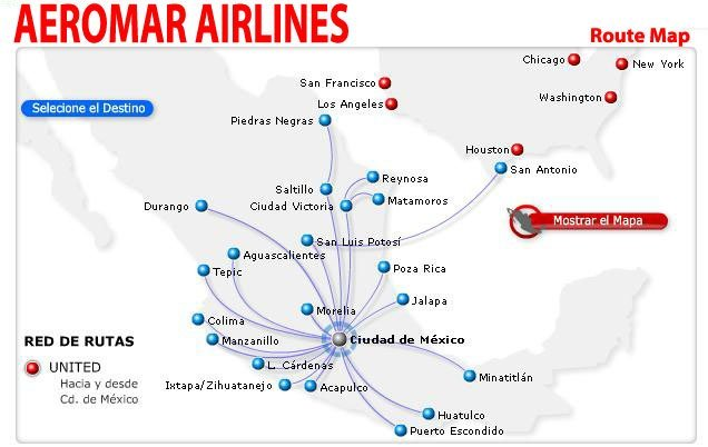 Aeromar Route Map