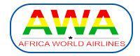 Africa world airlines logo