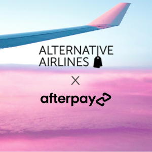 Afterpay and Alternative Airlines logos