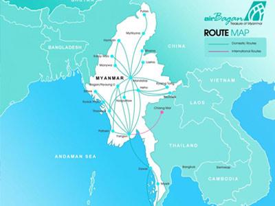air bagan route map