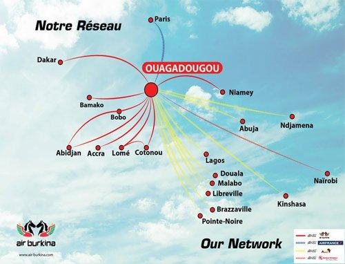 Air Burkina route map