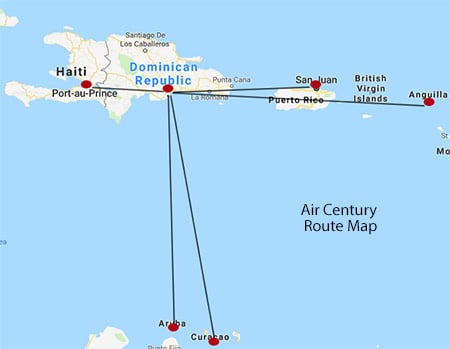 Air Century Route Map