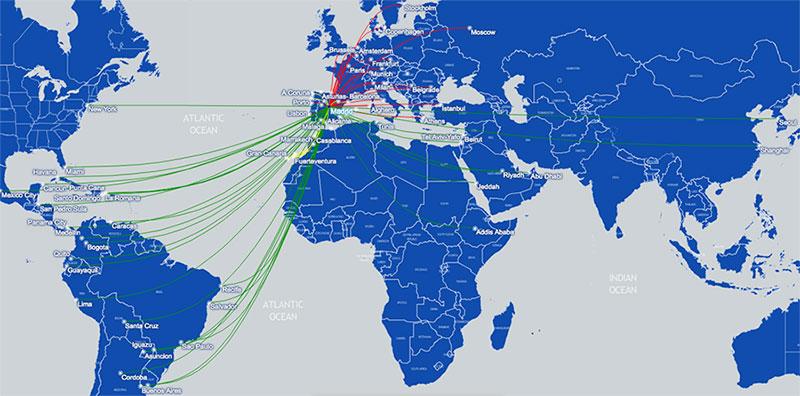 Air Europa Route map