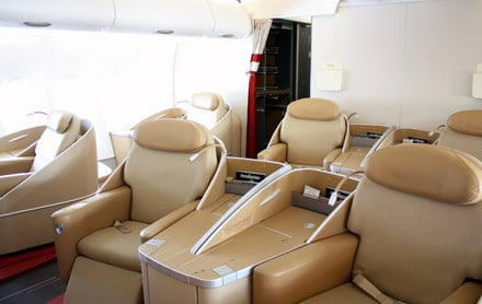 Airbus A380 air france first class seating