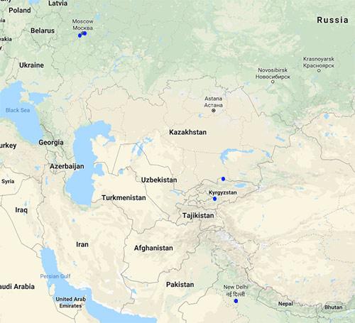Air Manas route map