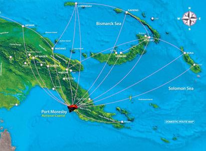 air niugini domestic route map