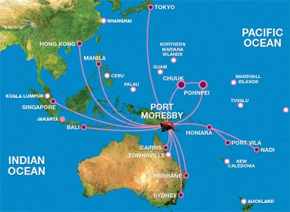 air niugini international route map