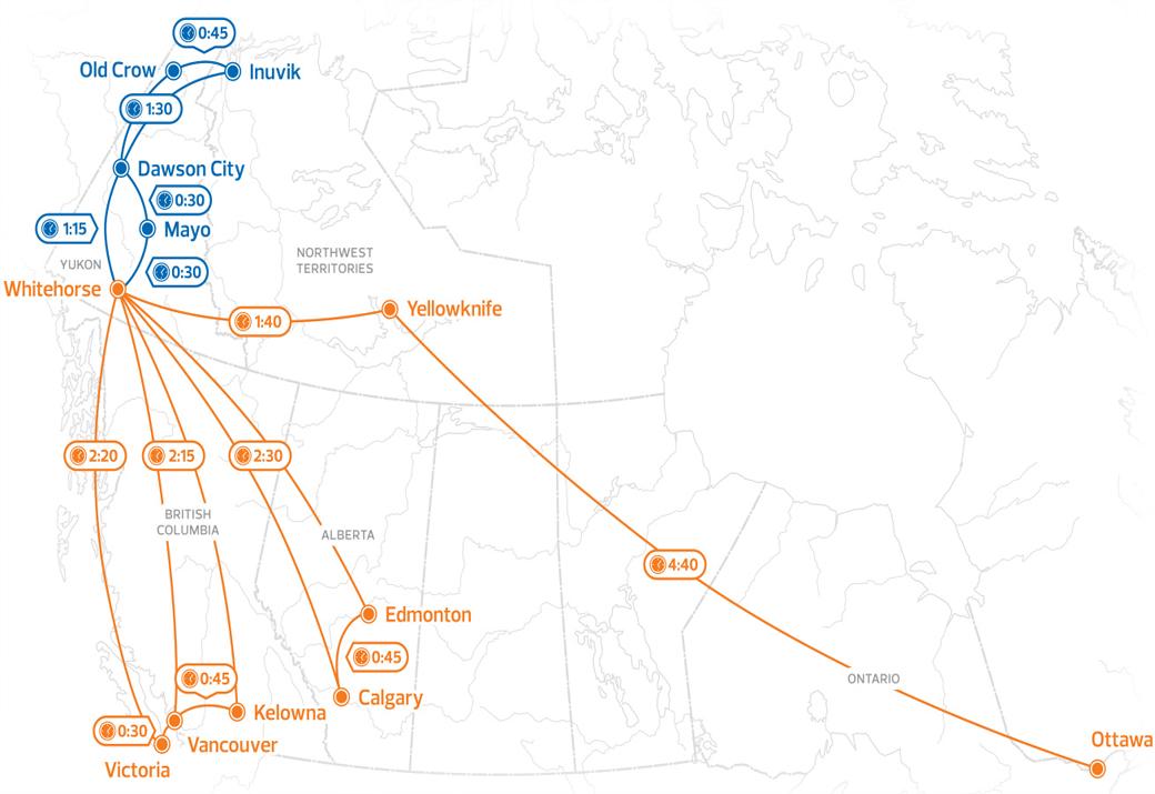 Airnorth Route Map