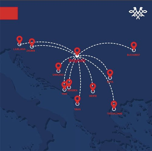 Air Serbia Route Map
