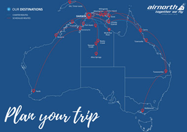 Airnorth Route Map