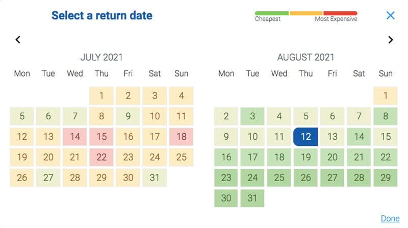 Alternative Airlines Cheapest Flights Calendar
