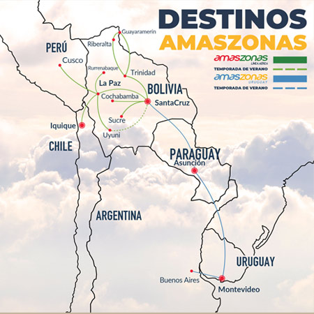 mapa de ruta de amaszonas