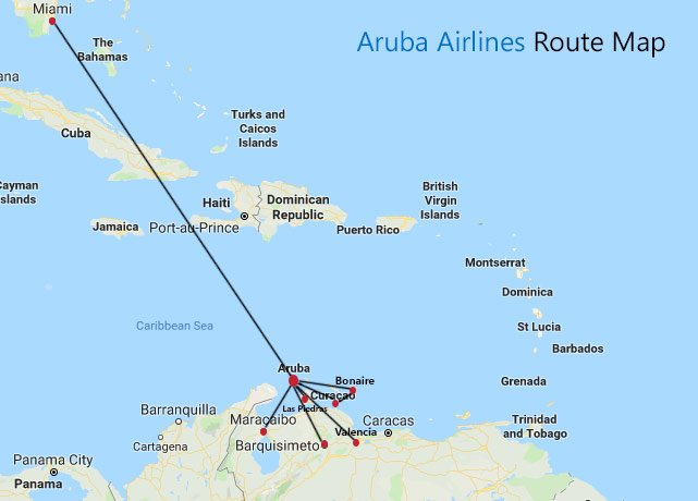 Aruba Airlines Route Map