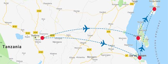 As Salaam Air Route Map