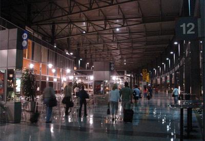 Inside the airport at Austin-Bergstrom International