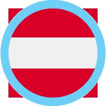 Austria icon round blue border