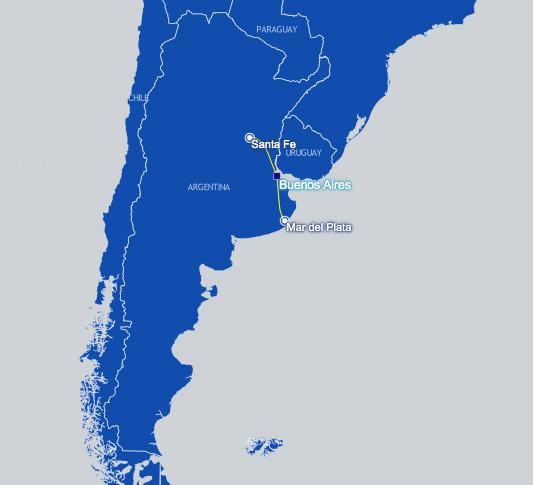 Avianca Argentina Route Map
