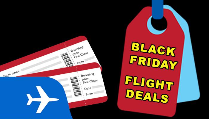 Black Friday Poster with boarding pass and tags