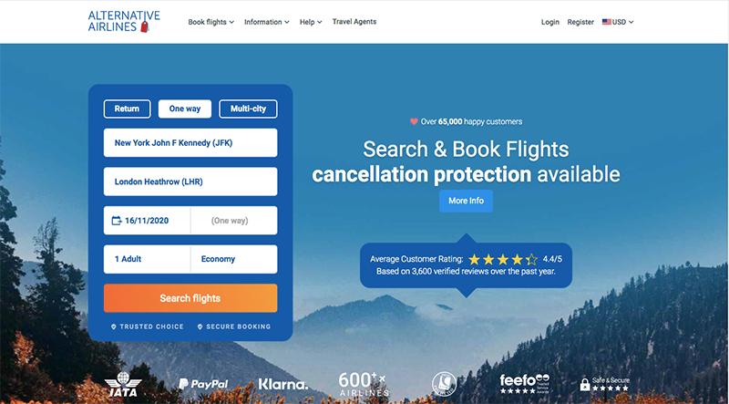JFK—LHR 16/11/20 Alternative Airlines Flight Search