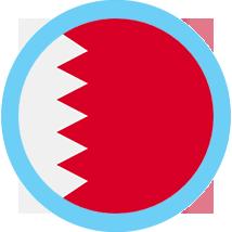 Bahrain round flag blue border