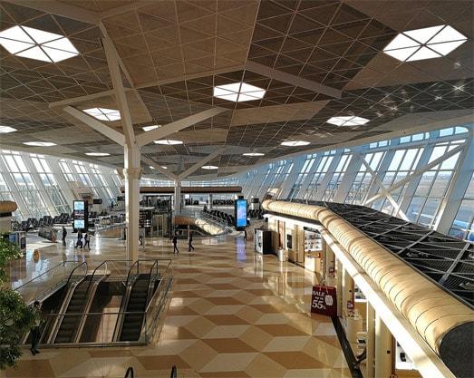 Inside of Baku-Heydar International Airport
