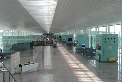 Inside Barcelona Airport
