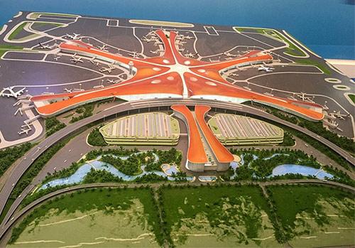Beijing Daxing Airport birds eye view