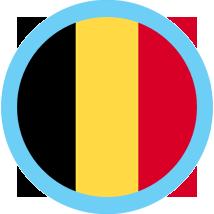 Belgium round blue border