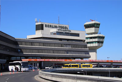 Outside the front of Berlin Tegel Airport