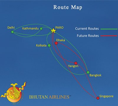 Bhuran Airlines Route Map