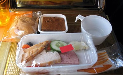 Bland airline meal