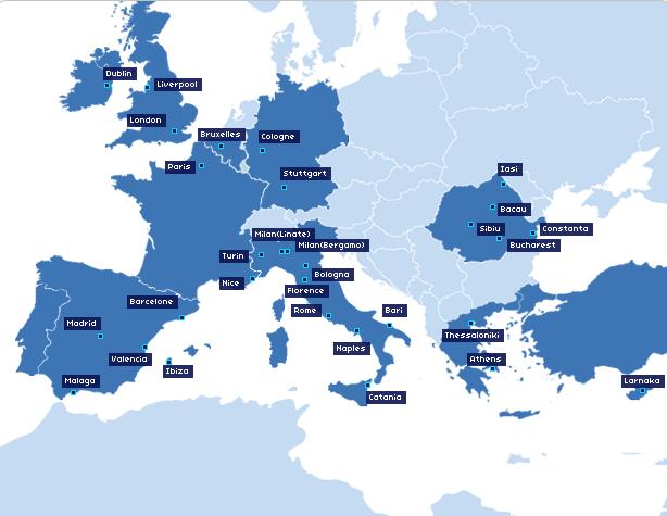 Blue Air Route Map