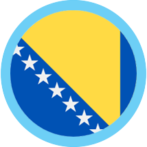 Honduras round flag blue border
