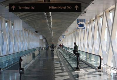 Inside Boston Logan International Airport
