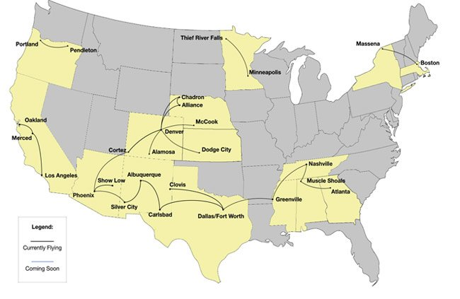 boutique air route map