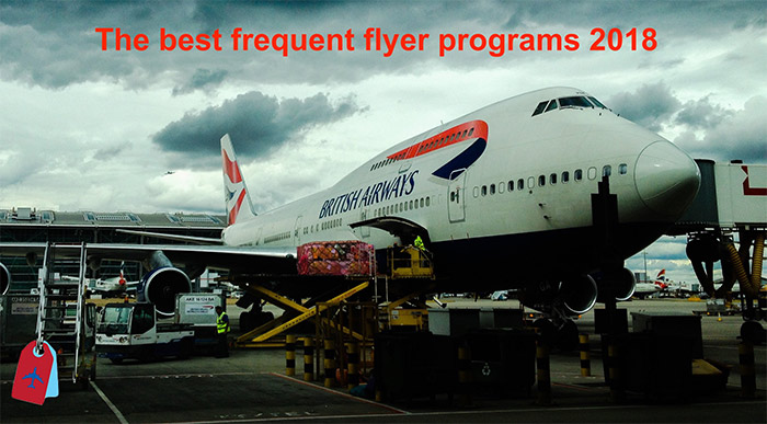 Image of external view of British Airways aircraft whilst boarding and loading suitcases
