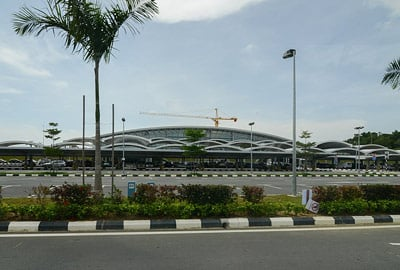 Outside the front of Brunei International Airport