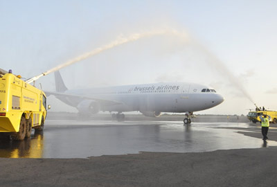 Brussels Airport Brussels Airlines cleaned