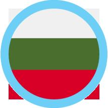 Bulgaria Flag Round Blue Border