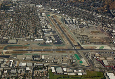 Burbank Airport Runway Aerial View
