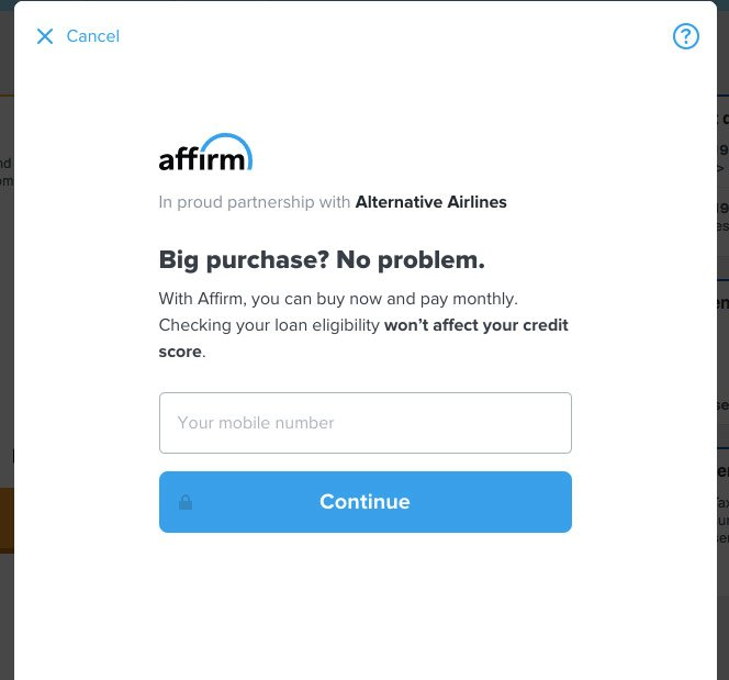 Apply for a affirm loan