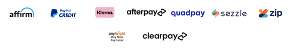 Logos for Alternative Airlines buy now pay later options