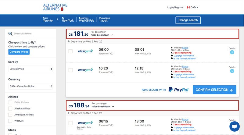 Step by step guide on how to use the Canadian dollar to buy airline tickets