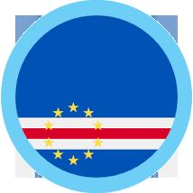 Cape Verdean Escudo round flag blue border