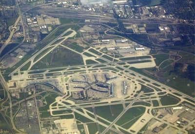 Chicago International Runway Runway Aerial View