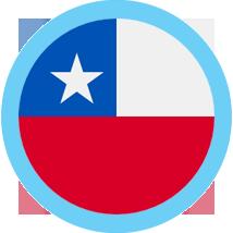 Chile round flag blue border