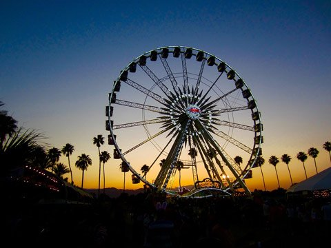 Ferris Wheel at Coachella Sunset