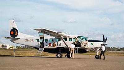 Exterior view of a Coastal Aviation aircraft