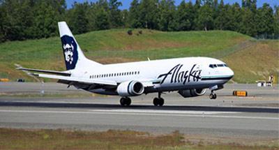 Combi aircraft Alaska Airlines