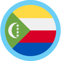 Comoros round flag blue border